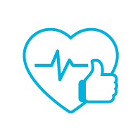 A close up of High blood pressure Improvement symbol with sky background